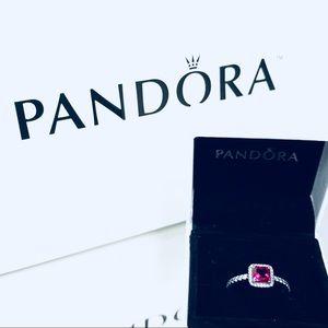 100% Authentic Pandora Timeless Elegance Ruby NEW